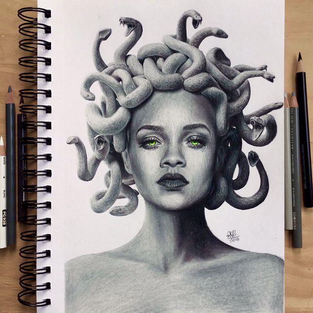 Medusa Drawing Medusa Drawing Drawings Medusa Painting