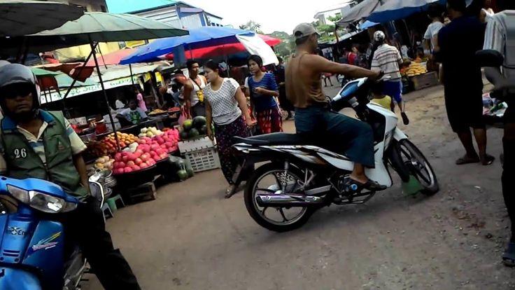 ตลาดสดเมืองเมียวดี ประเทศเมียนร์มาร์ Market town Myawaddy Myanmar Kumar