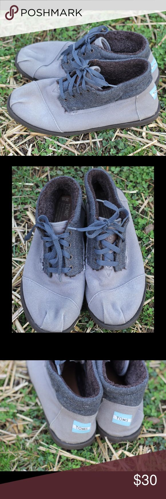 TOMS Botas Canvas Wool Shoe Chukka Boots 10 TOMS Botas Canvas Wool Shoes, sz 10. Fee minor marks & wear. Nice overall condition and smoke free home. Thanks! TOMS Shoes Chukka Boots