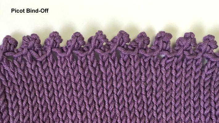 Picot bind-off close up