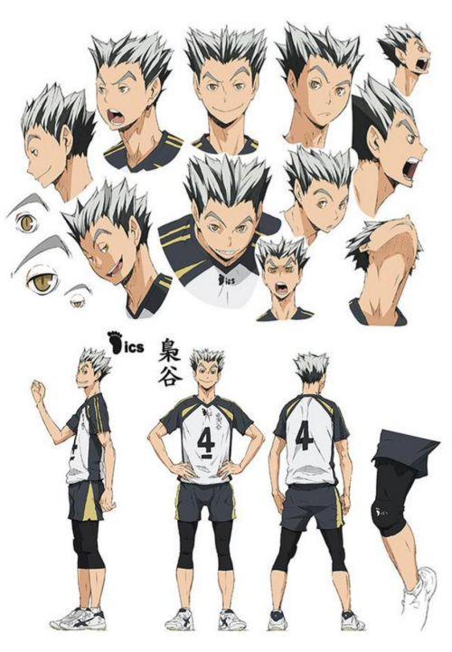Haikyuu!! character design - Bokuto Koutarou