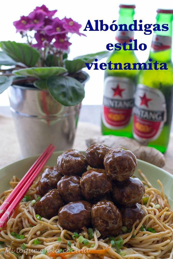 Mi toque en la cocina: Albóndigas estilo vietnamita.