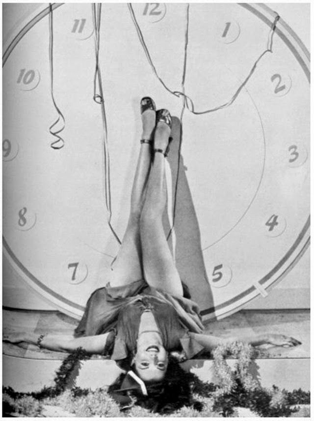 vintage everyday: Beautiful Photos of Ann Miller Legs Up for New Year in 1945