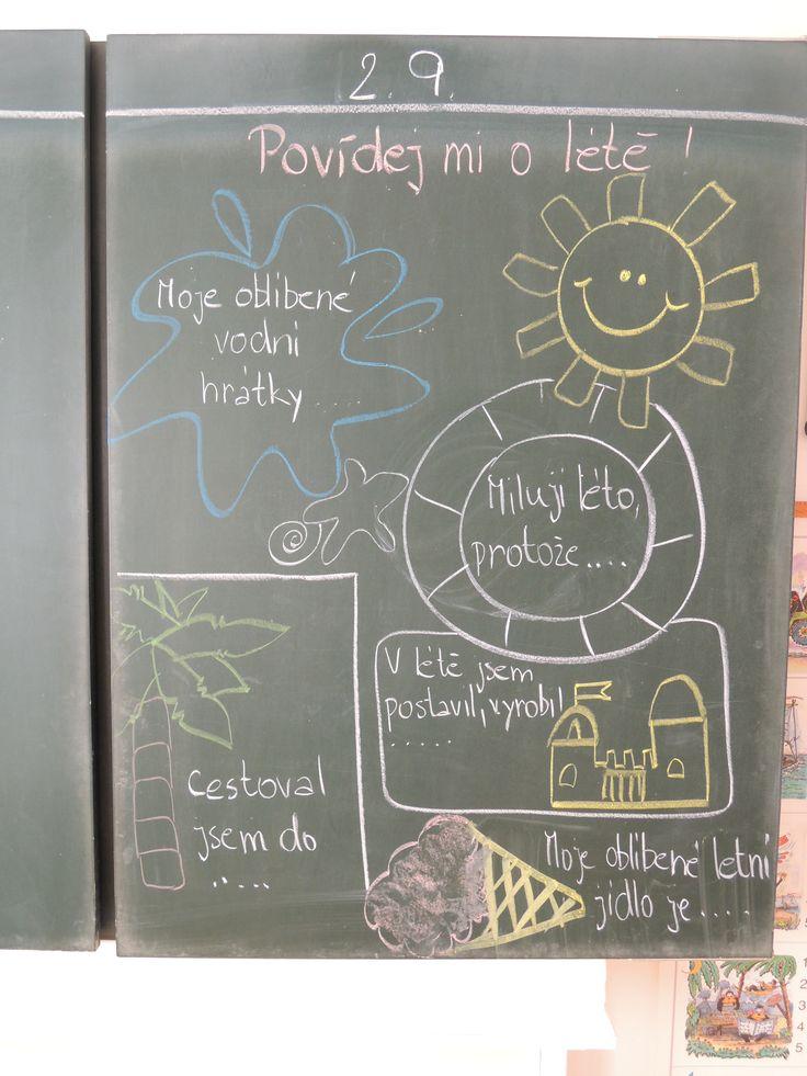 Osnova k vyprávění o létě....inspirace z Pinterestu