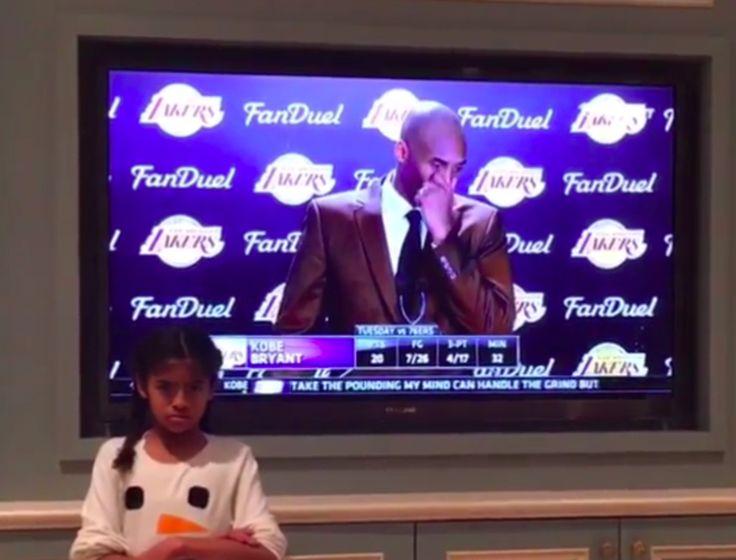 Kobe Bryant's Daughter Isn't Afraid To Make Fun Of Dad's Serious Face