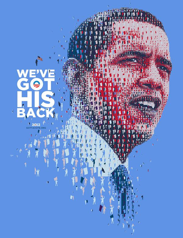 Greek graphic designer Charis Tsevis' posters of President Barack Obama commemorating his 2012 re-election.