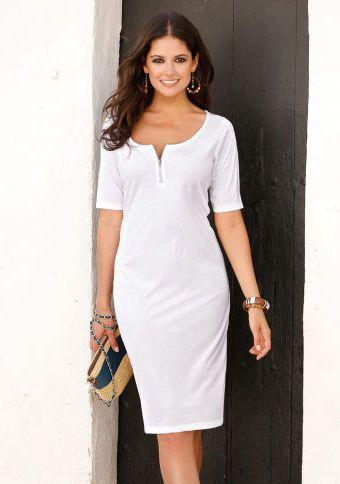 Šaty se zipovým výstřihem #ModinoCZ #white #whitefashion #trendy #summerfashion #style #bila #moda #whitesummer