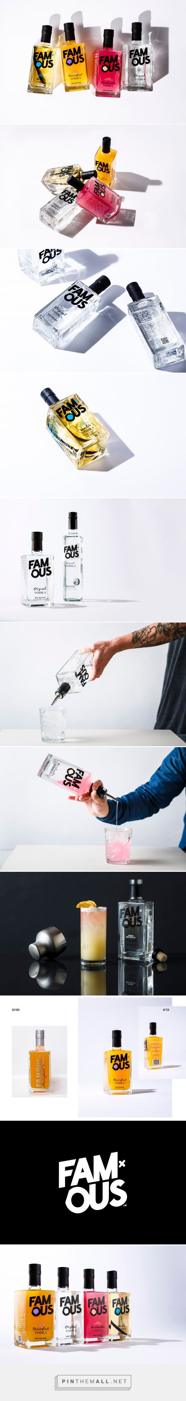 Famous Vodka - Packaging of the World - Creative Package Design Gallery - http://www.packagingoftheworld.com/2017/11/famous-vodka.html