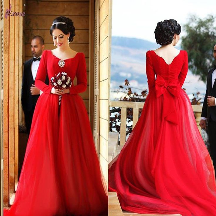 Красные длинные платья на свадьбу