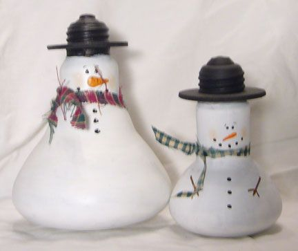 Also cute with a standard lightbulb. Imagine if you used snow flocking or that make your own puffy snow paint with glitter.
