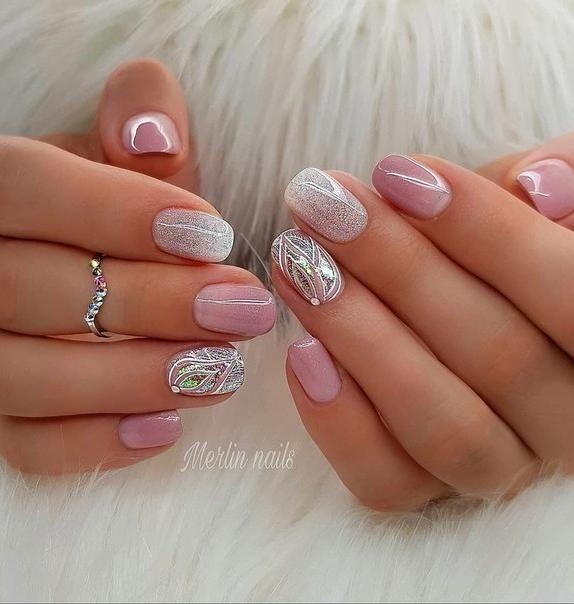 50 Winter Nail Art Designs 2019 Holiday Nail Designs Pink Nails