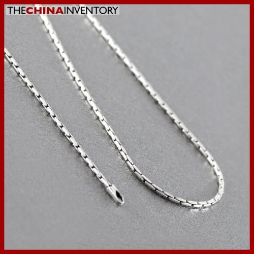 1MM 20` 925 STERLING SILVER BAMBOO NECKLACE SIL0901A