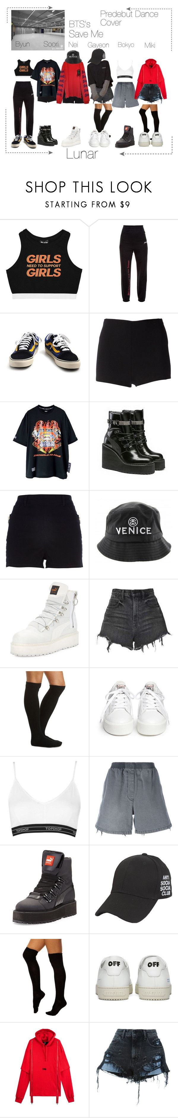"""Lunar 음력 Predebut Dance Cover"" by lunar-official ❤ liked on Polyvore featuring beauty, Minga, Vetements, Vans, Martin Grant, Puma, River Island, Alexander Wang, Charlotte Russe and Ash"