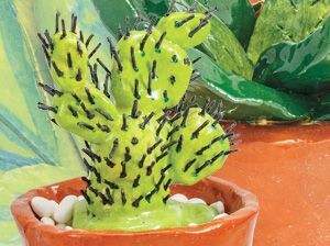 Ceramic Cacti Made By Doncaster Secondary College.