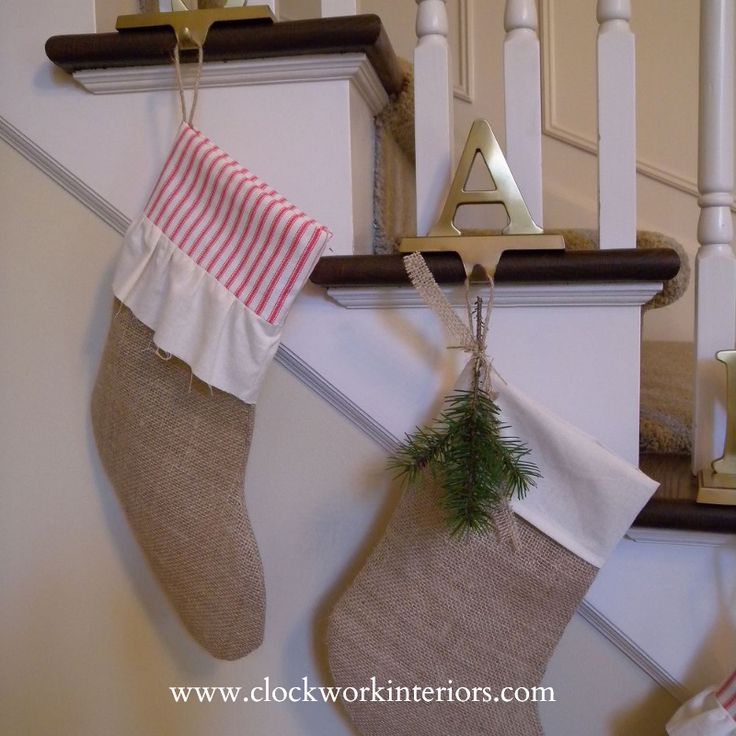 55 best christmas ornaments to make images on pinterest for Hang stockings staircase