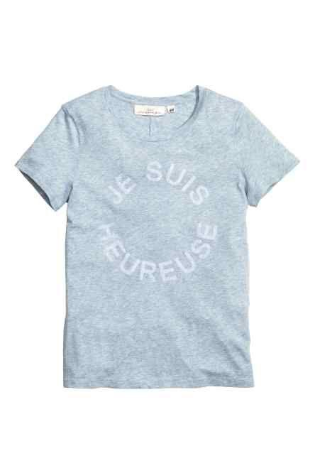 Bluză din jerseu cu imprimeu