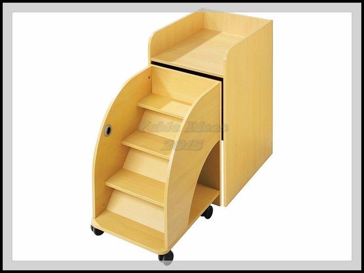 Escabeau pour table langer meuble langer 1 case - Table a langer mobile ...