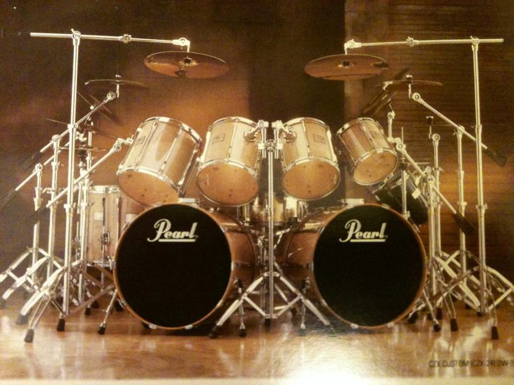 My Pearl drumset looks like a dream!