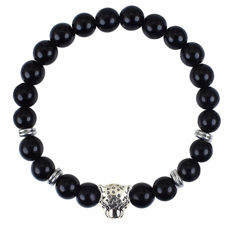 Black Onxy Tiger Buddha Lion Leopard Style Energy Yoga Strand Beaded Bracelet Bangle For Men Women Fashion Jewelry Accessories