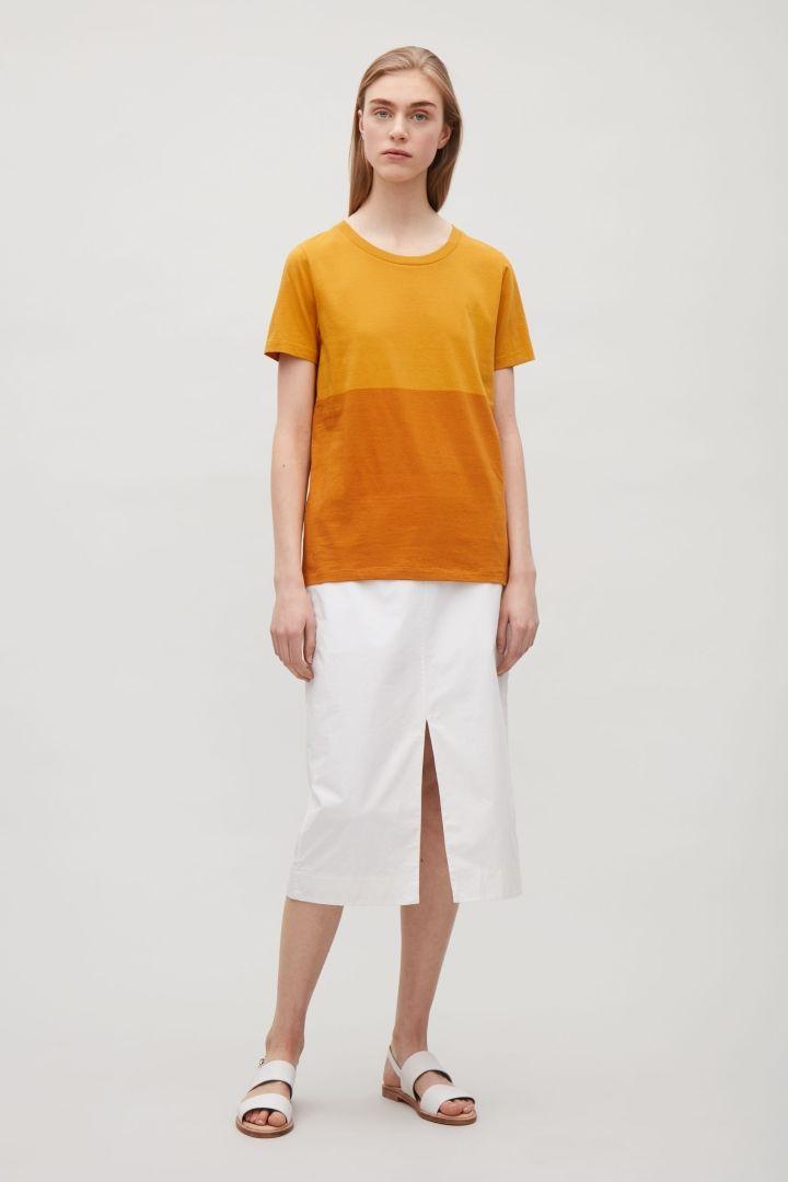 COS | Colour-block cotton t-shirt