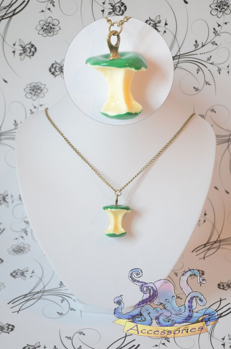 sweet green apple necklace