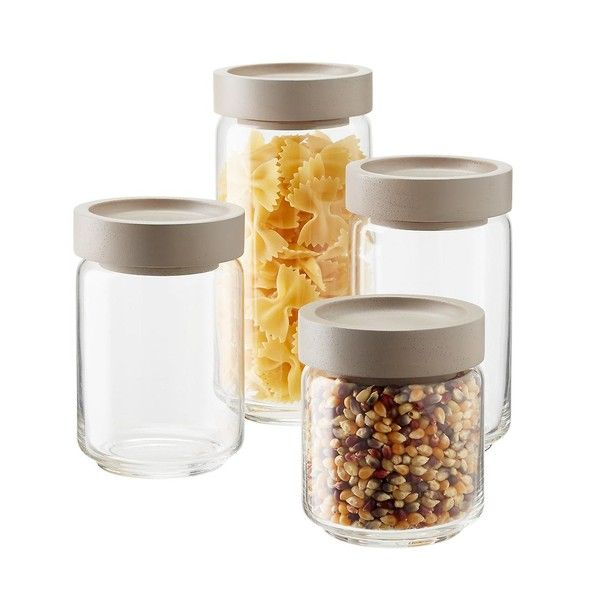 The 15 Most Inspiring Pantry Designs On Pinterest Sanctuary Home Decor Glass Canisters Glass Food Storage Glass Jars With Lids