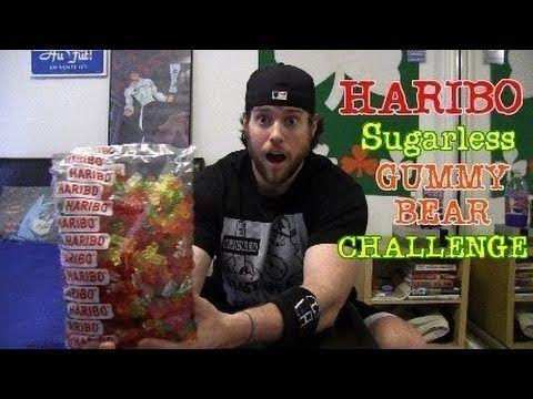 ▶ Haribo Sugarless Gummy Bear Challenge (Warning: Intestinal Exorcism Guaranteed) - YouTube