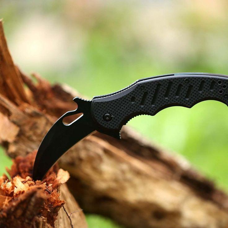 Amazon   ハイエンドクローハイキングキャンプ、狩猟用のナイフ、爪ブレードクロウブレイドギフトナイフ折りたたみ   フォールディングナイフ   スポーツ&アウトドア
