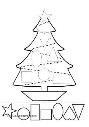 cut the shapes and paste then in the tree. then color it - ESL worksheets