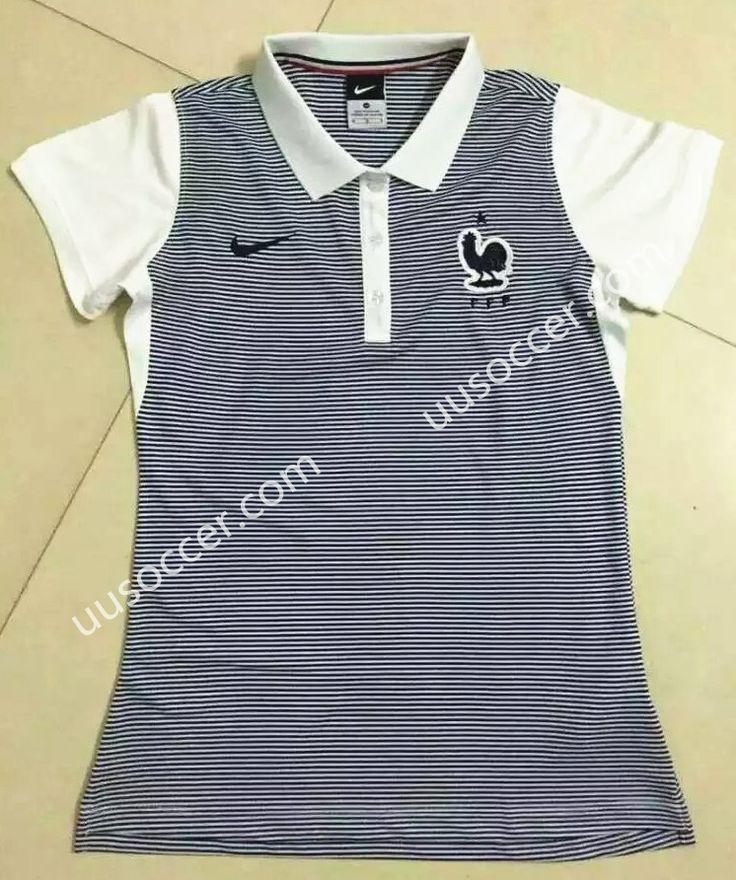 2016 European Cup France Gray Female Polo Shirt