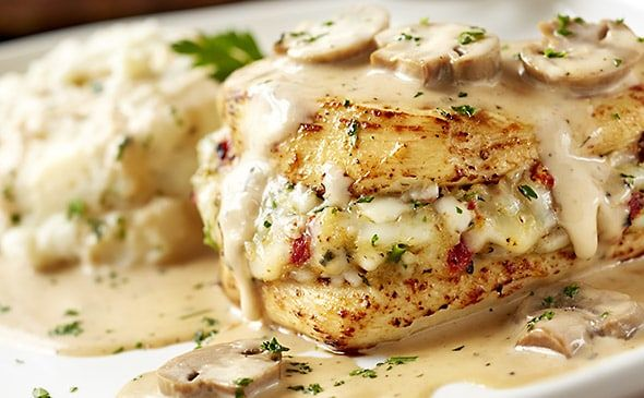 Oven-roasted stuffed chicken breast marsala is stuffed with Italian cheeses and sun-dried tomatoes, then topped with a creamy Marsala wine sauce with mushrooms. Description from recipesecrets.net. I searched for this on bing.com/images