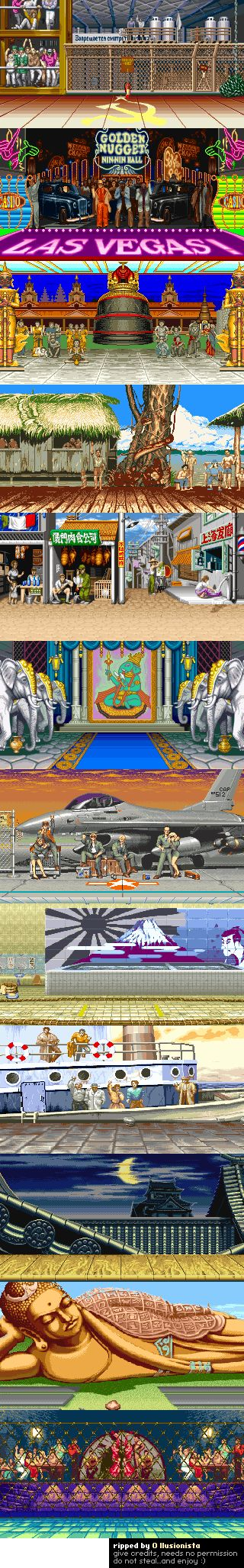 Backgrounds of Street Fighter