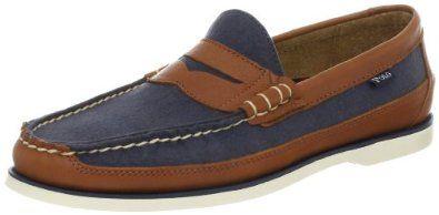 "Polo Ralph Lauren Men's Blackley Penny Canoe Loafer Polo Ralph Lauren. $99.00. Rubber sole. Leather/Textile. Heel measures approximately 0.75"""