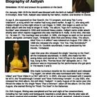 Read this biography of singer Aaliyah.  Then, have students answer questions that allow them to apply, analyze, synthesis and evaluate the informat...