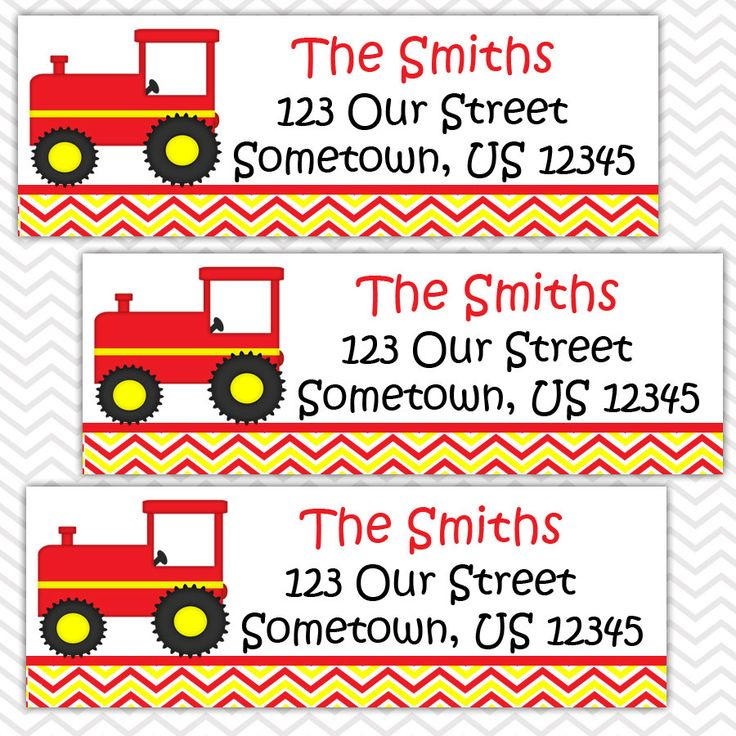 Red Tractor - Personalized Address labels, Stickers by sharenmoments on Etsy