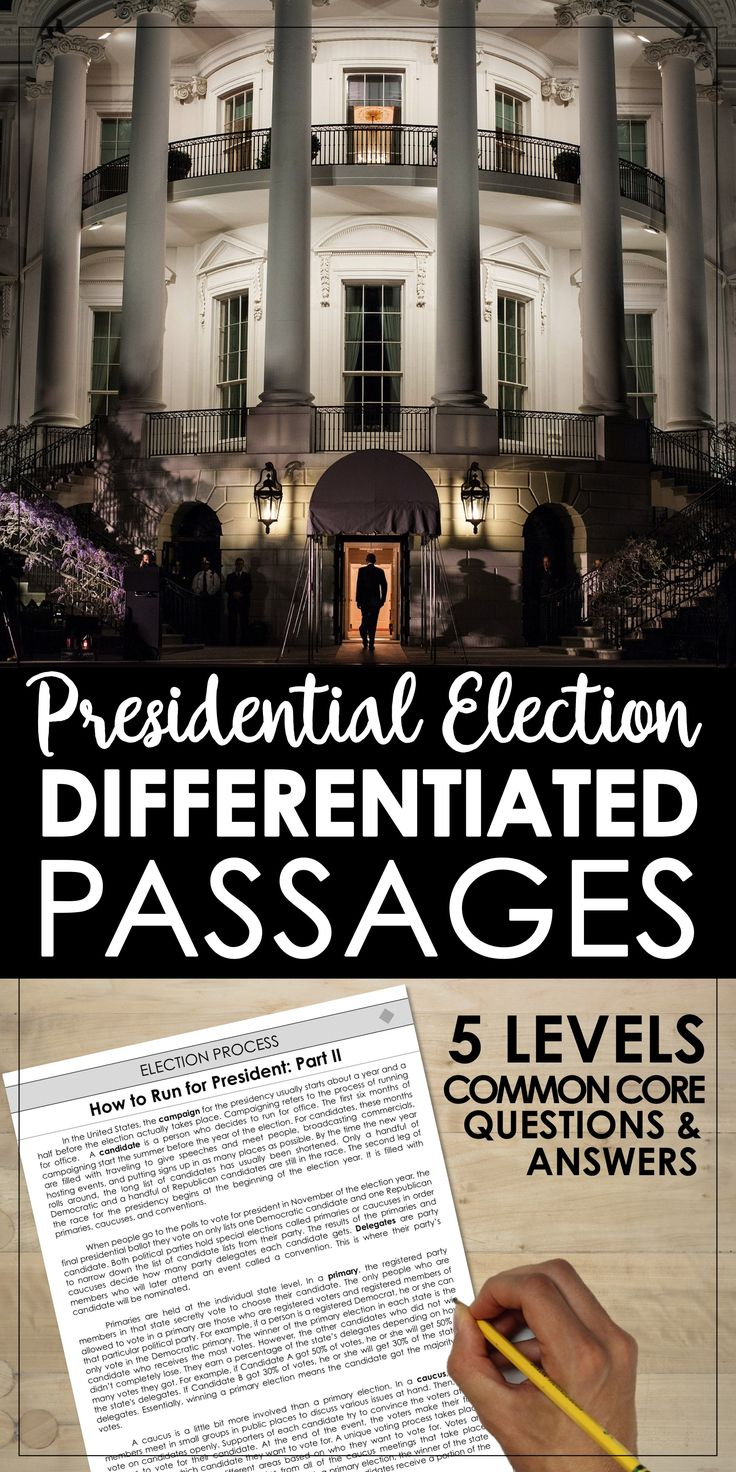 best ideas about electoral college votes the presidential election election day differentiated reading passage topics included rarr the electoral college
