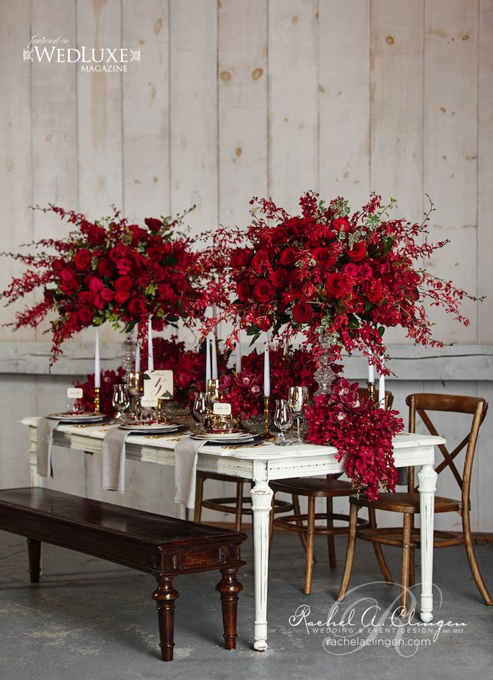 Marsala: 2015 Pantone Color of the Year - Wedding Decorations - Centerpieces