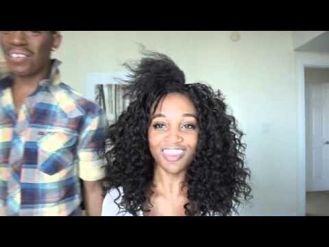 Big Curly Weave on Natural Hair - Bobbi Boss Hair [Video] - http://community.blackhairinformation.com/video-gallery/weaves-and-wigs-videos/big-curly-weave-natural-hair-bobbi-boss-hair-video/