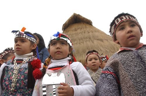 Mapuche children