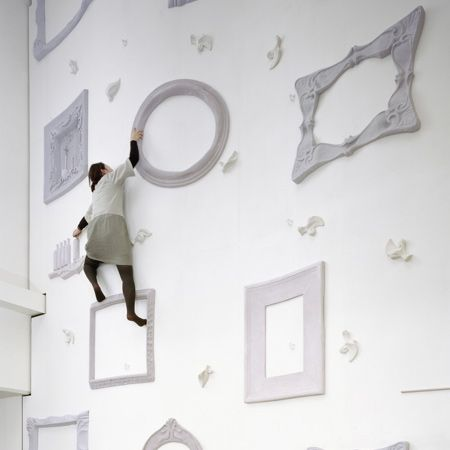 The Omotesando Fitness Gym in Tokyo, Japan has a really cool climbing wall