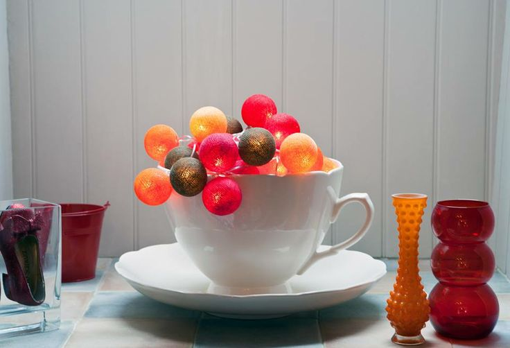 Kaffedags #cottonballights #cottonballs #heminredning #mysigt