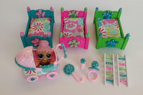 LOL Bunk Bed and stroller for a LOL Doll Dolls Not Included LOL Doll Accessory