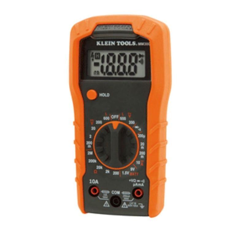 Klein Tools Digital Multimeter - Manual Ranging - 600V