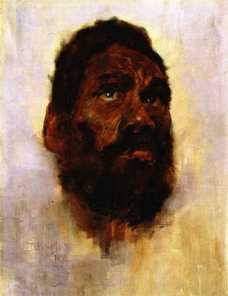 Tom Roberts   Aboriginal Head Charlie Turner .... I love how organ it is