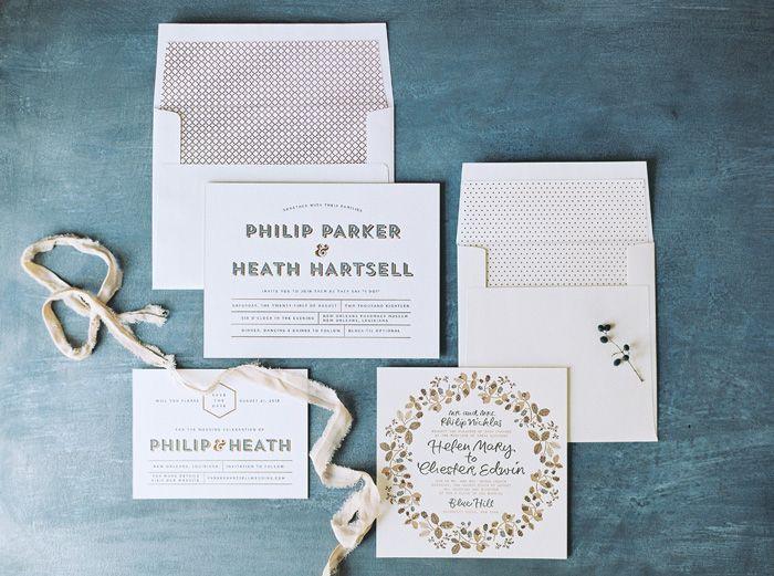 Heathcliff wedding invitations & save the dates + Bounty calligraphy wedding invitations from Bella Figura | Photography by Kate Ignatowski
