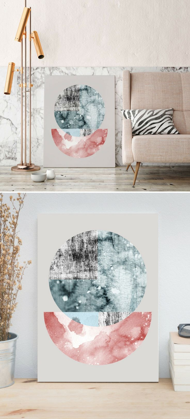 The watercolor abstract moon art print is designed for a decoration of the contemporary interior. From $17 + FREE SHIPPING WORLDWIDE from U.S.