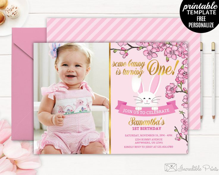 Best Birthday Invitations Images On Pinterest Birthday - One year birthday invitation template