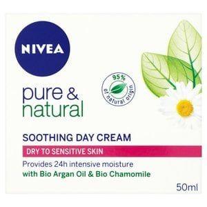 Nivea Pure & Natural Moisturising Cream: Dry/Sensitive