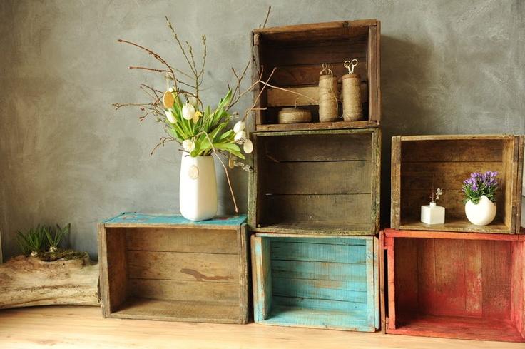 12 best holzkisten images on pinterest wooden crates boxing and garten. Black Bedroom Furniture Sets. Home Design Ideas
