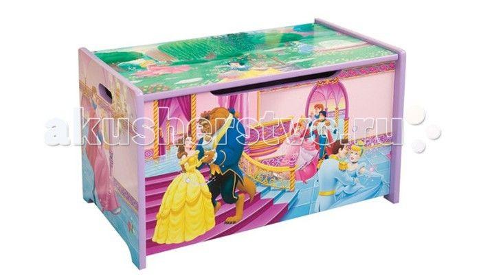 Disney Короб для игрушек Принцесса Красавица и чудовище  Материал: МДФ. Размеры: 62,5*39*33,2.